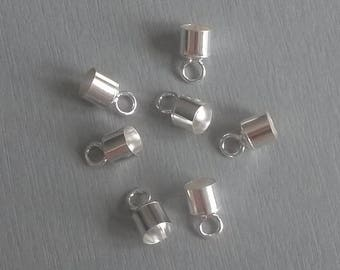 Sterling Silver end cap for cord 5mm