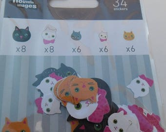 MINI STICKERS for shelf or CONSOLE * cats * 2 cm and 1.2 cm EAN 3045677575724