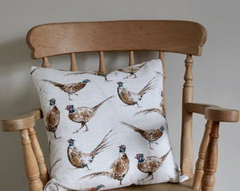 Pheasant Square Cushion