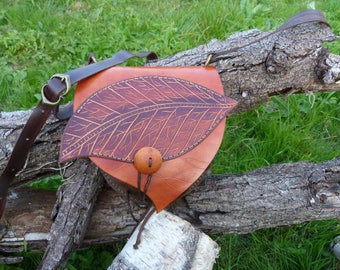 """Leaf"" orange purse bag"