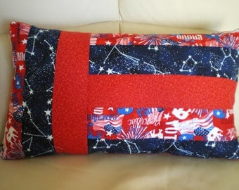 strips of fabric cushion American trend Red