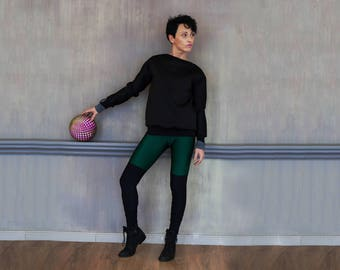 Green yoga leggings/ Pilates leggings/ Yoga pants/ Workout pants/ Sport leggings/ ActiveWear/ Leggings GREEN MOSS