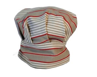 Striped adjustable kids chef Hat