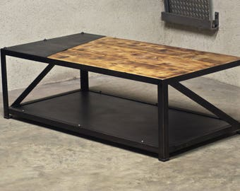 Industrial coffee table - Loft - Metal & wood
