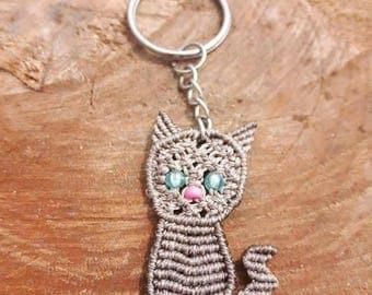 Small cat keychain