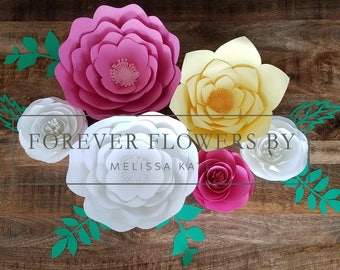 Giselle Set: Large Customizable Flower Backdrop Display(6 Flowers)Perfect for a party, event or decor.