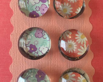 """Magnets 3/4"""" Mixed Flowers"""