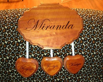 Personalized Heart String Plaque - Made to Order!