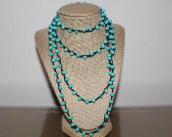 Long Turquoise Wrap