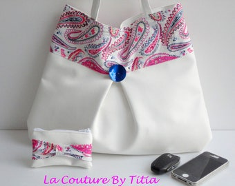 Purse and clutch faux leatherette Liberty handmade @lacouturebytitia women's fashion