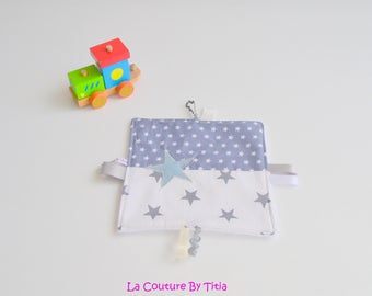 Blanket label made handmade stars gray and blue @lacouturebytitia gray