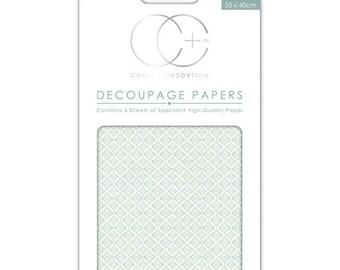 Paper patch (3 sheets) Blue ceramics - CCDECP044