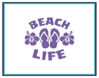 Beach Life Vinyl Decal