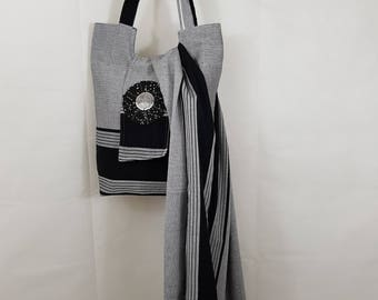 African Kikoy Tote/ Beach Bag and Matching Kikoy Shawl/ Sarong. Kikoy Bag and Sarong Set. Kikoy Sarong. Kikoy Tote Bag