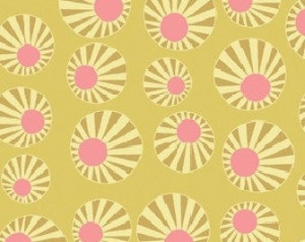 Patchwork fabric Benartex - yellow circle - Arianna collection - coupon 50 x 100 cm