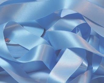 The meter sky blue satin ribbon