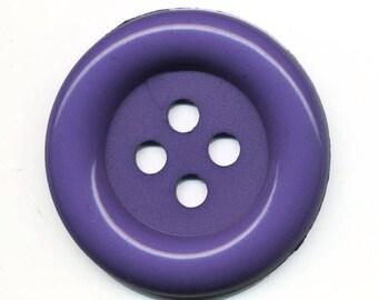 Very large button 7 cm purple clown