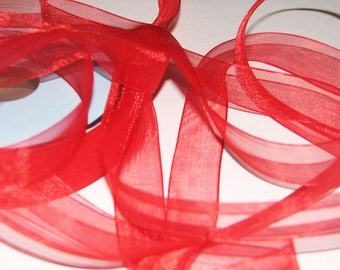 Red chiffon Ribbon