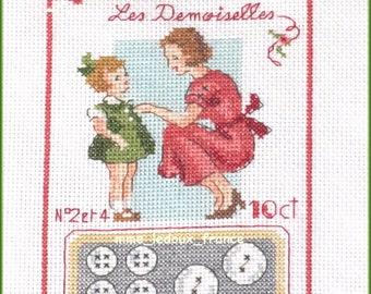 "Embroidery cross Pt ""Bridesmaids"" - v pattern - custom"