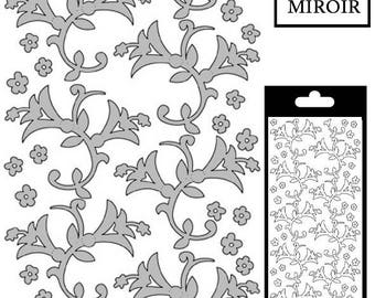 Flowers/bells decal - Silver mirror - STI190881