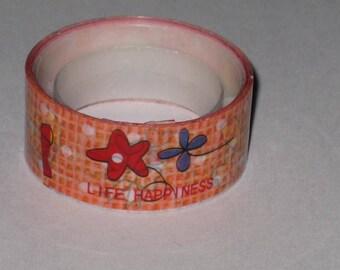 Ribbon tape/masking tape Life happiness 1.50 m