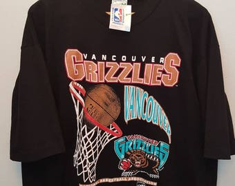 Vintage Deadstock VANCOUVER GRIZZLIES T-shirt 1994,New with Tag, NBA, men's xl.