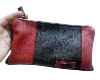 Leather Clutch.  Women clutches.  Women Clutch. Leather clutch, evening bag, foldover clutch, Pouch for a larger bag, Pencil case
