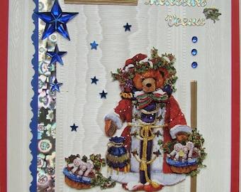 Santa bear greetings card