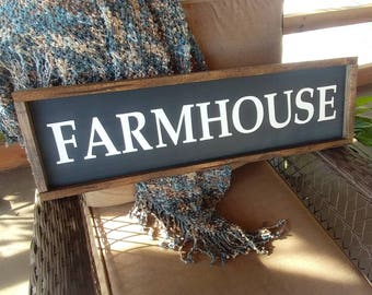 Farmhouse wooden sign