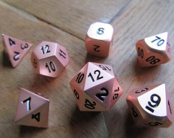 Rose Gold Roleplaying Dice
