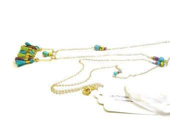 Funk Pop brightly on gold plated chain necklace