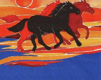 352 - Paper towel wild horses