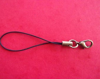 Tie-cord with lobster clasp antique bronze - 6.5 cm