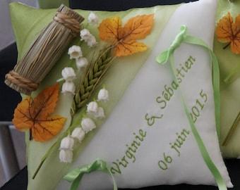 cushion green rural, countryside