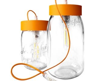 Table lamp 'perfect' orange, 2 liters