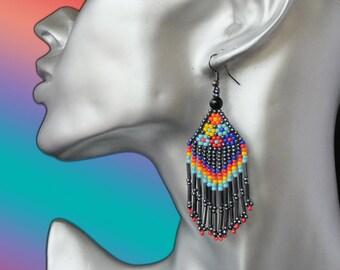 novelty earrings ethnic flowers weaved in luxury