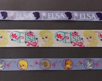 FREE SHIPPING- 3 Piece Frozen Princess Elsa Ribbon Set - Disney Licensed Offray Ribbon