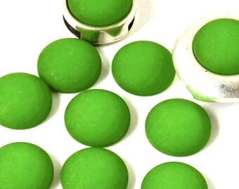 Cabochon resin - Matte color - (12mm) circular - green