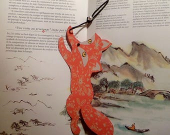 Bookmark with Fox and Fox shaped