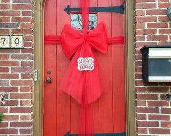 Christmas Door Bow - Nice until proven Naughty
