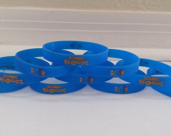 Glow in the Dark - SONIC bracelets kids birthday party favors (10 pack)