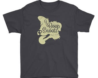 I Boop Snoots Puppy / Dog Lover T-Shirt for Kids - Short Sleeve T-Shirt