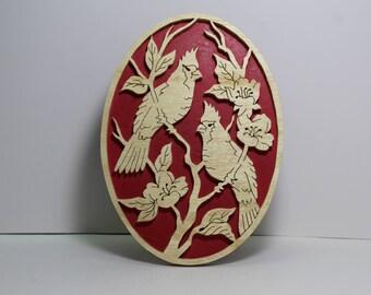 Cardinals wall plaque