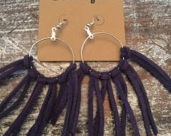 Deep Purple Tassel Earrings