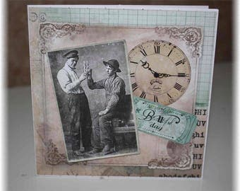 vintage map - young man