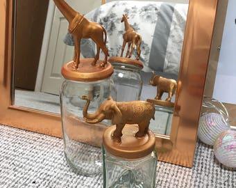 Animal nick nack jars