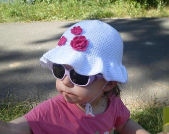Summer hat for baby from birth to 2 years