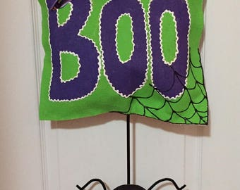 Halloween Spider Burlap Door Hanger