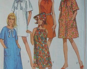 Women's Robe or Dress Vintage Pattern, Simplicity 7138, Size Medium (14-16), CoPA Pattern circa 1960