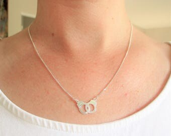The Choker necklace in Sterling Silver 925 pendant wristbands-gift idea.
